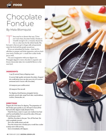 Page 48 of FOOD Chocolate Fondue