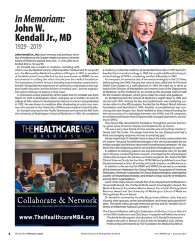 Page 4 of In Memoriam: John W. Kendall Jr., MD 1929–2019