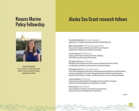 Page 39 of Alaska Sea Grant research fellows