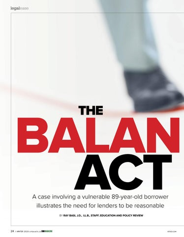 Page 24 of Legal Ease: The Balancing Act: Illustrating the need for lenders to be reasonable