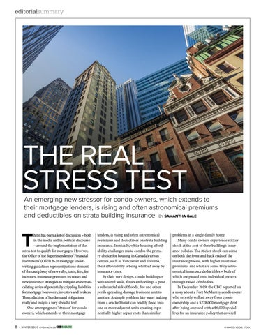 Page 8 of Editorial summary: The real stress test