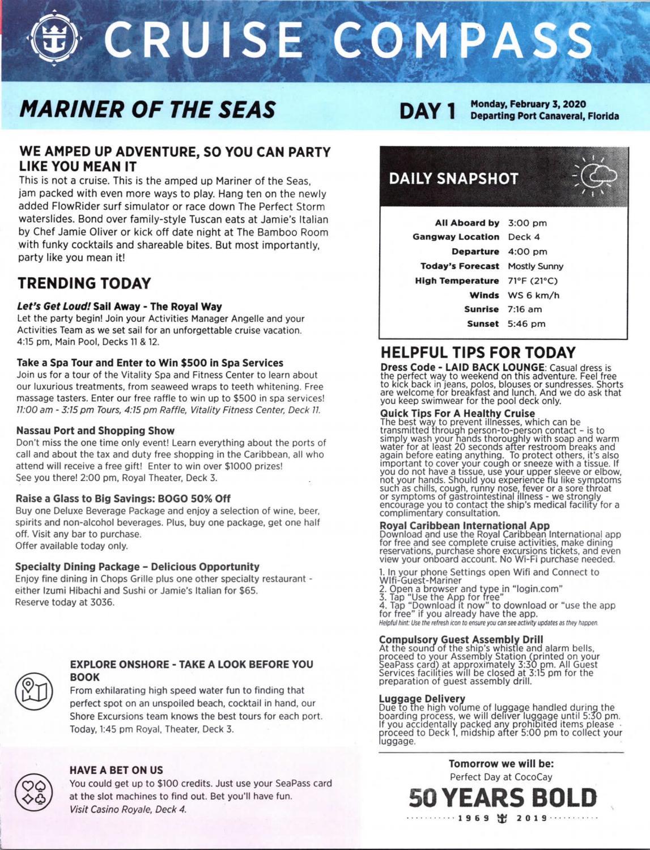 Mariner Of The Seas 4-night Bahamas & Perfect Day At