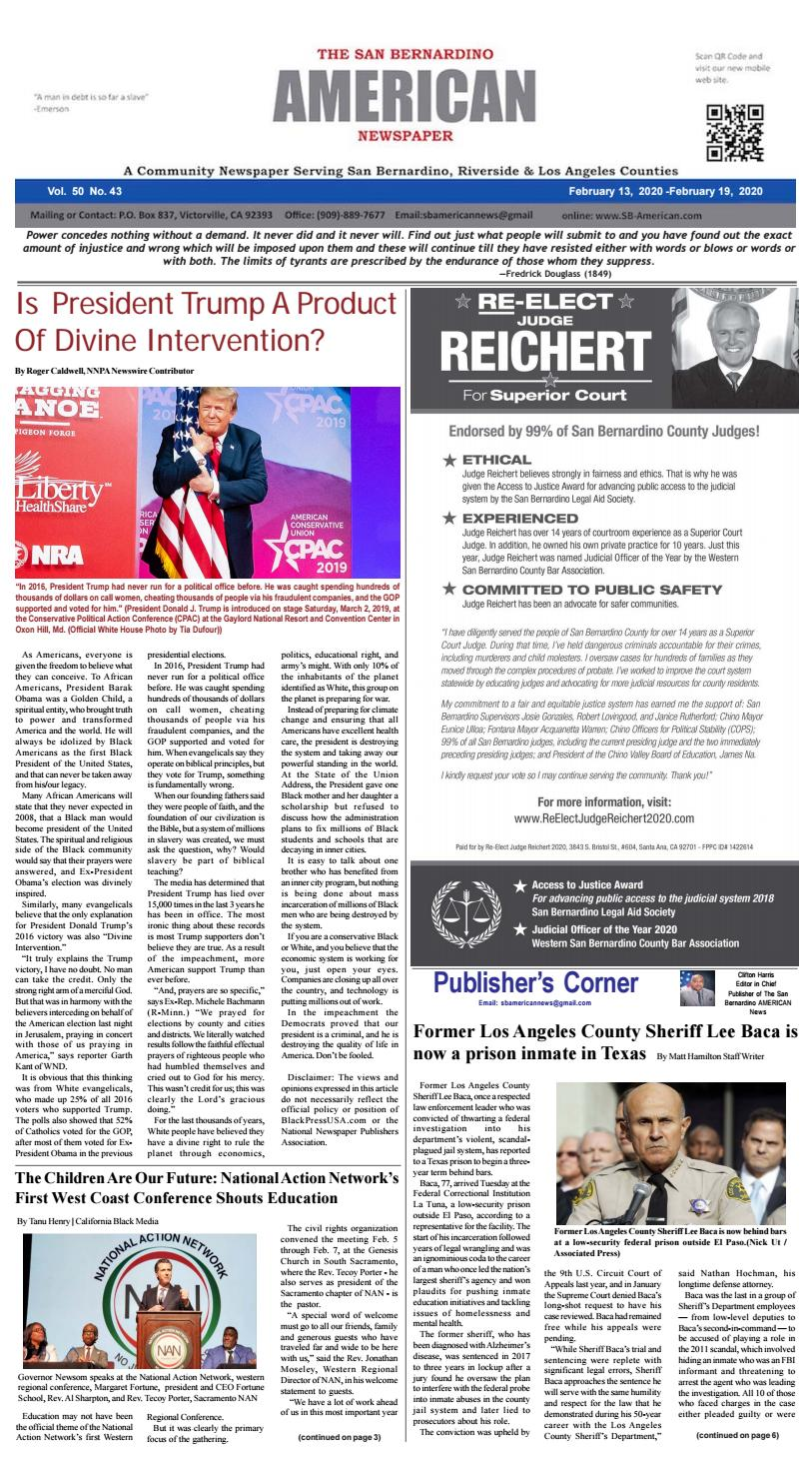 SB American News Week Ending 2/19 by San Bernardino American News