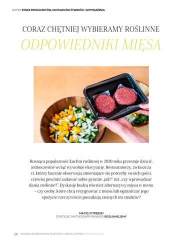 Page 28 of Coraz chętniej wybieramy roślinne odpowiedniki mięsa