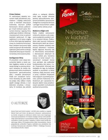 Page 39 of Trendy na globalnym rynku żywności i napojów