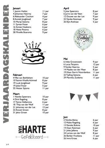 Page 8 of Verjaardagskalender