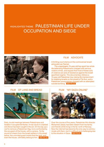 Page 8 of HIGHLIGHTED THEME: PALESTINIAN LIFE UNDER OCCUPATION AND SIEGE