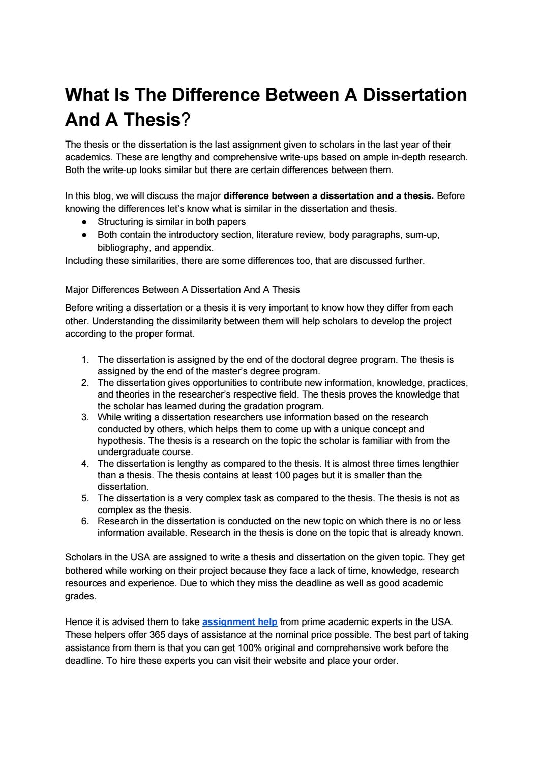 Thesis page order