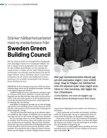 Page 36 of Stärker hållbarhetsarbetet med ny medarbetare från Sweden