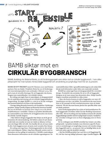 Page 38 of BAMB siktar mot en cirkulär byggbransch