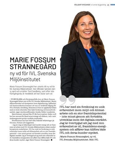 Page 43 of Ny vd för IVL Svenska Miljöinstitutet
