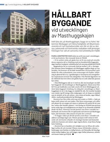 Page 44 of Hållbart byggande vid utvecklingen av Masthuggskajen