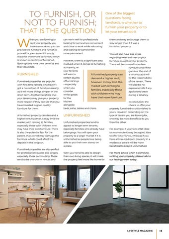 Page 15 of Should you furnish your lettings property?