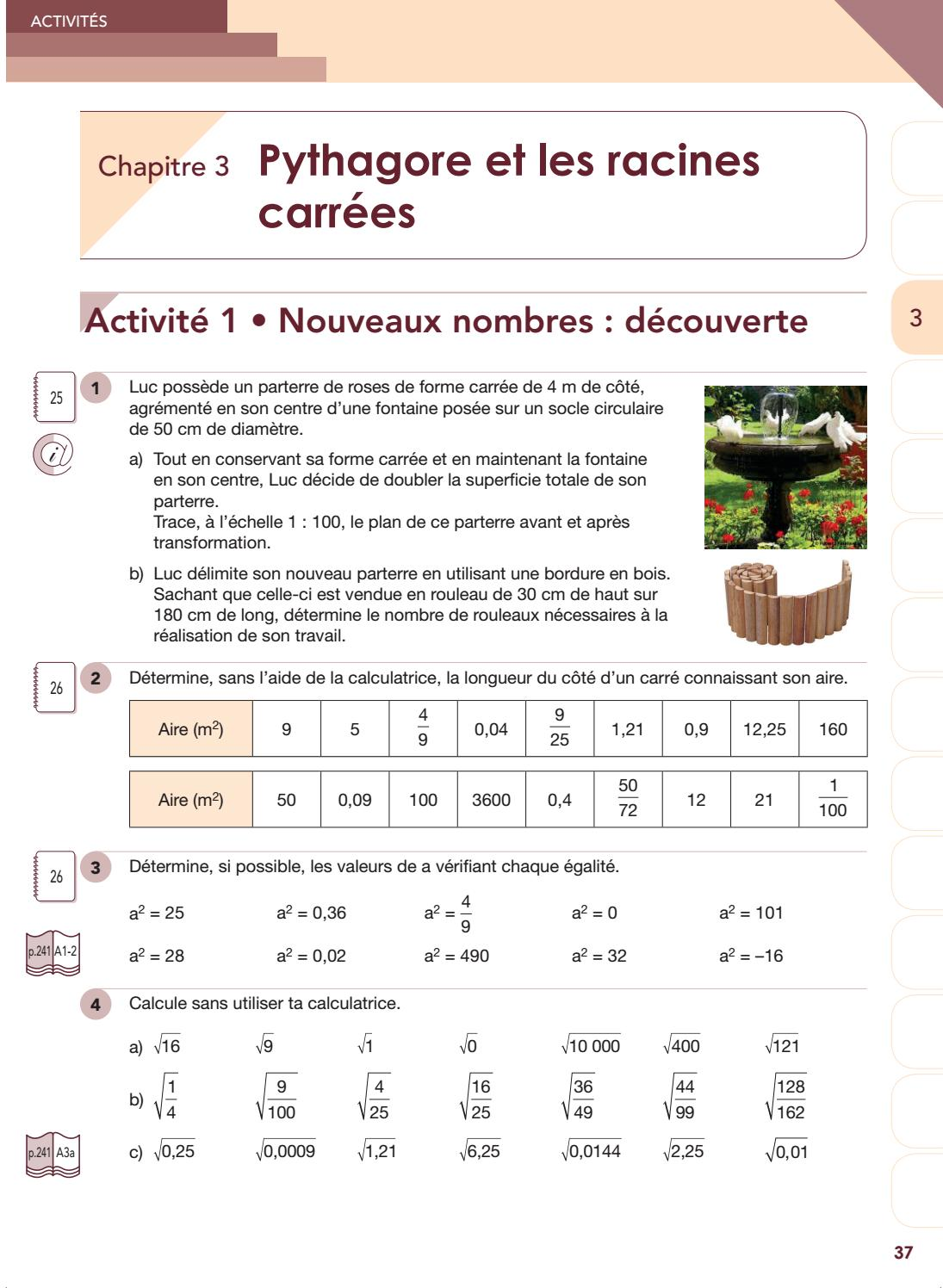 Actimath A L Infini 1e Edition 3e Annee Ancienne Version Manuel Chapitre 3 By Van In Issuu
