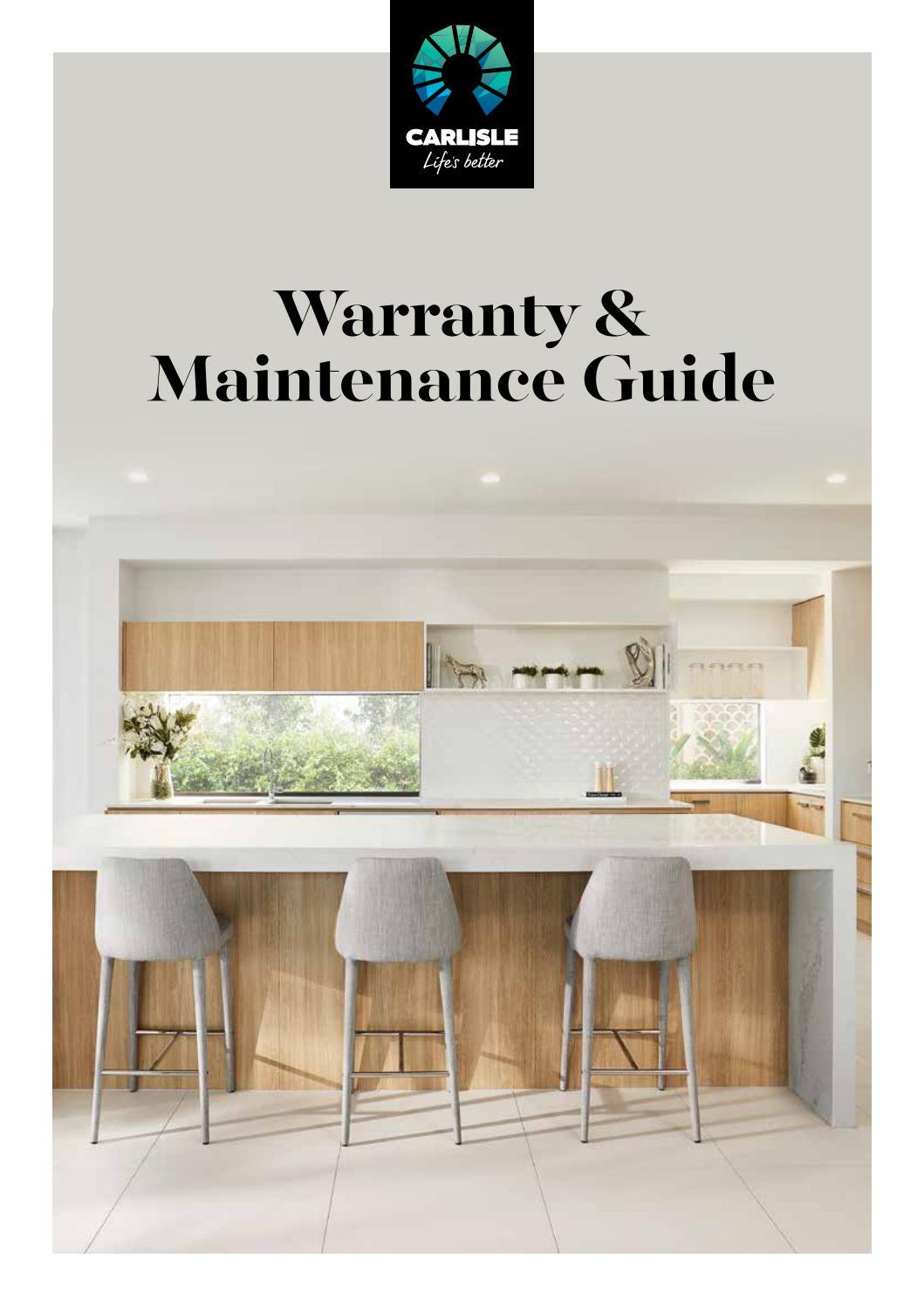 Warranty Maintenance Guide By Carlisle Homes Issuu