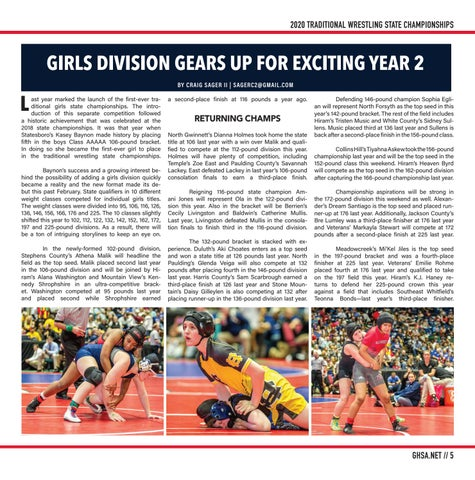 Page 5 of GIRLS DIVISION GEARS UP FOR EXCITING YEAR 2