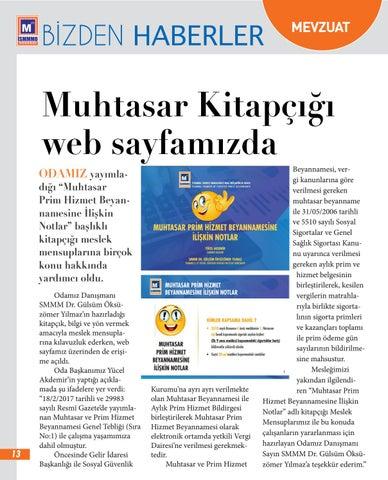 Page 13 of Muhtasar Kitapçığı Web Sayfımızda Yayımlandı