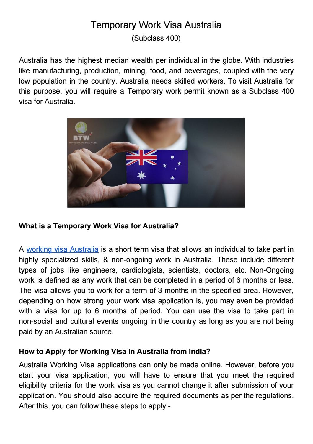 Working Visa Australia By Akshay Divate Issuu