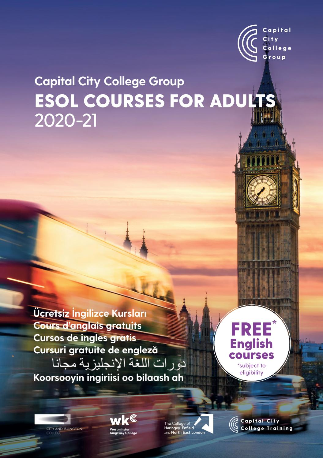 free english courses in east london