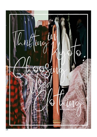 Page 28 of Thrifting in Kyoto: Choosing Used Clothing by Aislinn Chan
