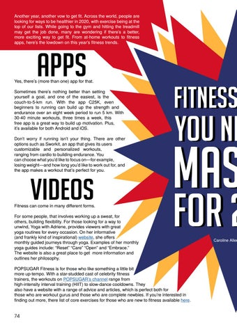 Page 74 of Fitness Hacks You Need to Master for 2020 by Caroline Allen