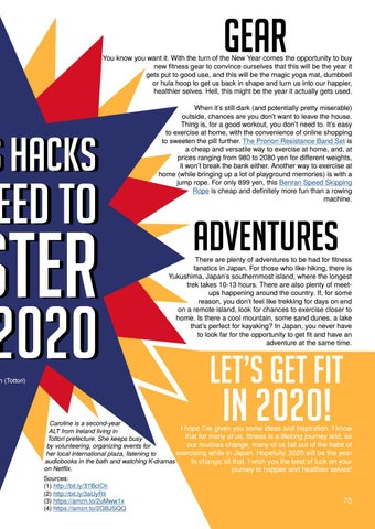 Page 75 of Fitness Hacks You Need to Master for 2020 by Caroline Allen