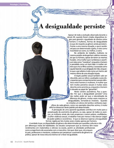 Page 44 of A desigualdade persiste Inequality persists