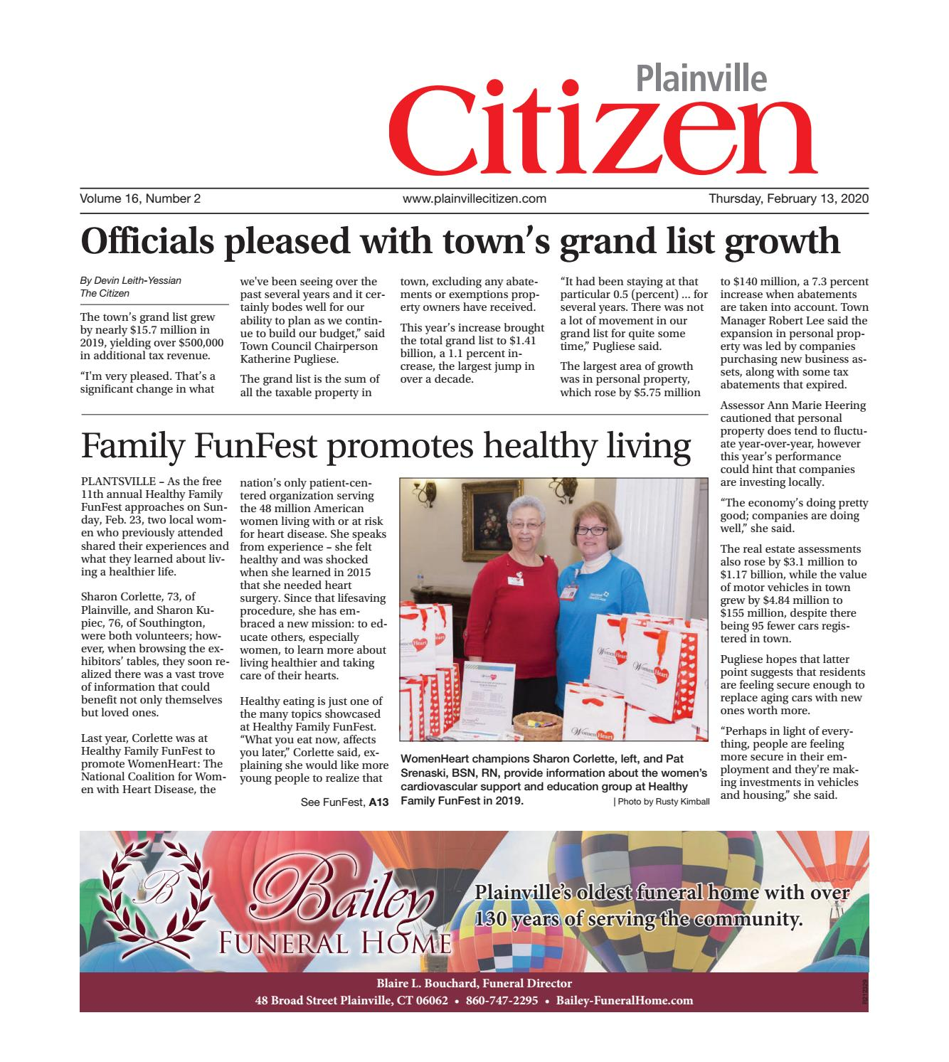 Plainville Citizen Feb 13 2020 By Record Journal Issuu