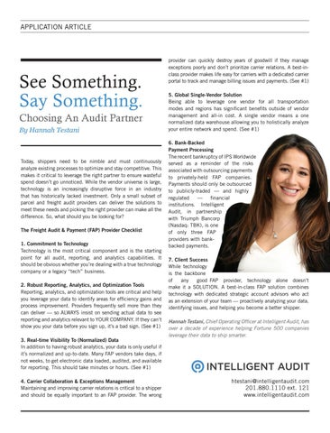 Page 13 of SEE SOMETHING. SAY SOMETHING. CHOOSING AN AUDIT PARTNER