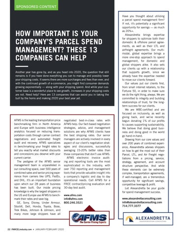 Page 22 of HOW IMPORTANT IS YOUR COMPANY'S PARCEL SPEND MANAGEMENT? THESE 13 COMPANIES CAN HELP