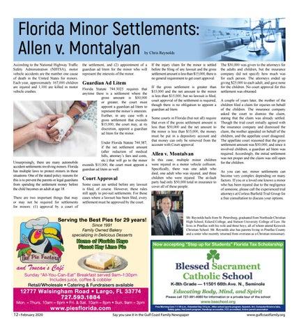 Page 12 of Florida Minor Settlements: Allen v. Montalyan