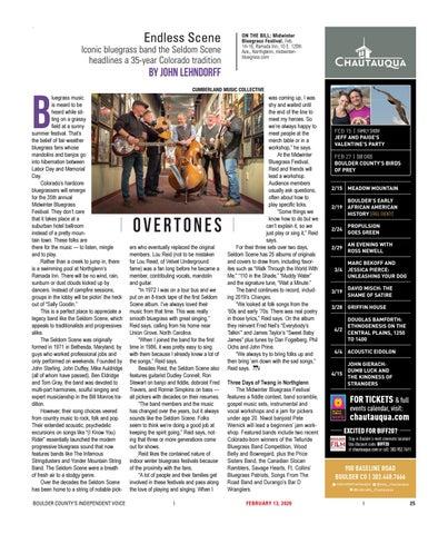 Page 25 of Overtones: The Seldom Scene headlines Midwinter Bluegrass Festival