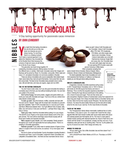 Page 47 of Nibbles: V-Day tasting opportunity for passionate cacao immersion
