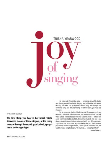 Page 20 of COVER STORY: TRISHA YEARWOOD Over her long
