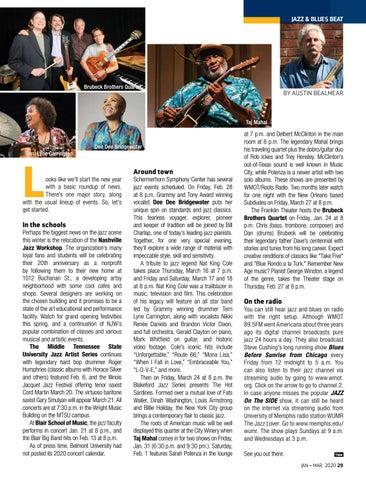 Page 29 of SYMPHONY NOTES Bassist Kevin Jablonski talks about the