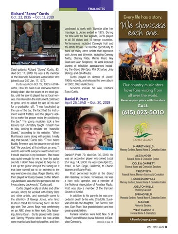 Page 31 of FINAL NOTES We bid farewell to Donald Fritts, Dillard