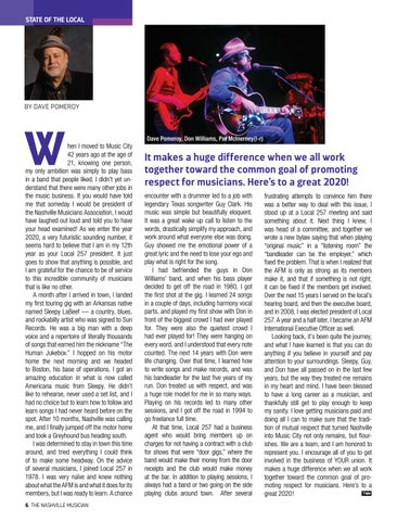 Page 6 of STATE OF THE LOCAL Dave Pomeroy on the musical journey