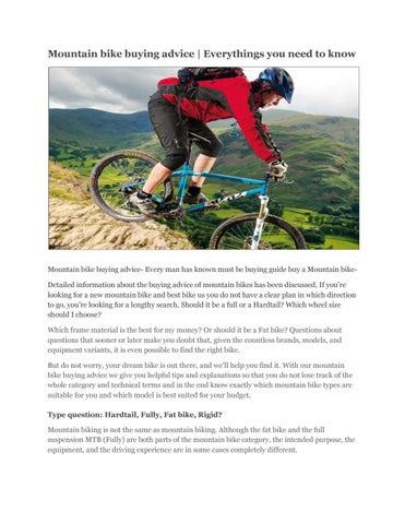 mountainbiker know)