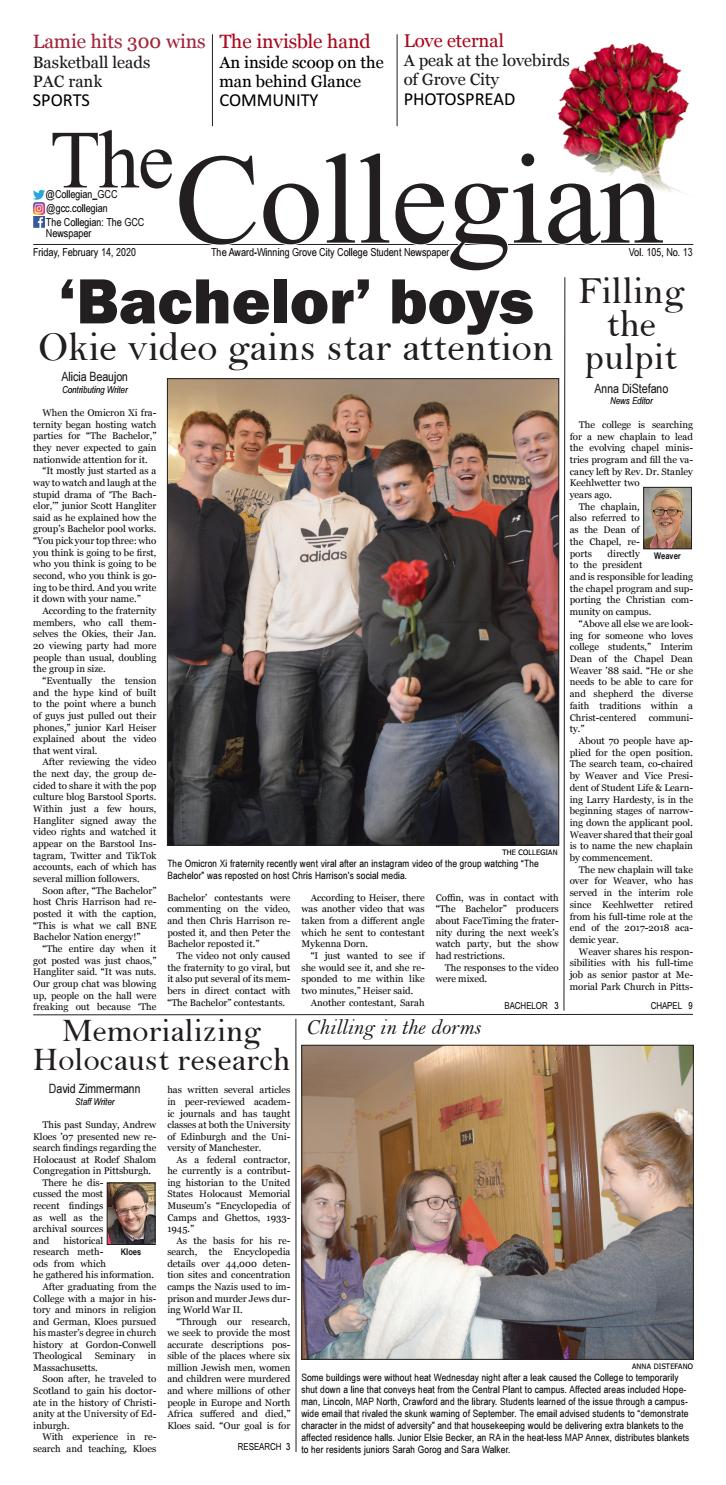 The Collegian February 14 2020 By Grove City College Issuu