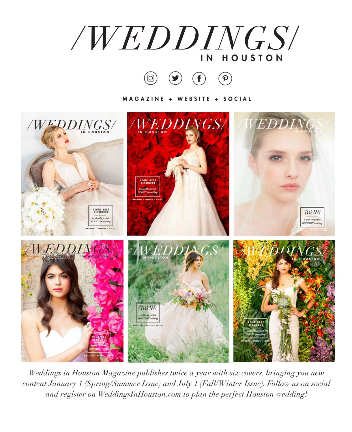 Weddings In Houston Spring Summer 2020 Issue By Weddings In
