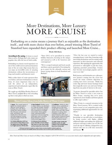Page 42 of MORE CRUISE Why cruises are more