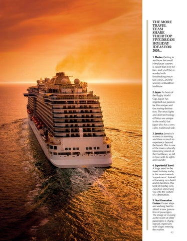 Page 43 of MORE CRUISE Why cruises are more