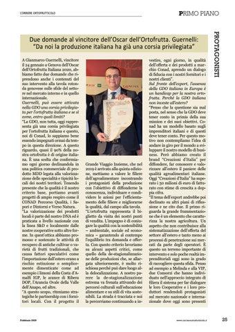 """Page 27 of Due domande al vincitore dell'Oscar dell'Ortofrutta. Guernelli: """"Da noi il produttore italiano ha già una corsia priviegiata"""