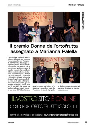 Page 29 of Il premio Donne dell'ortofrutta assegnato a Marianna Palella
