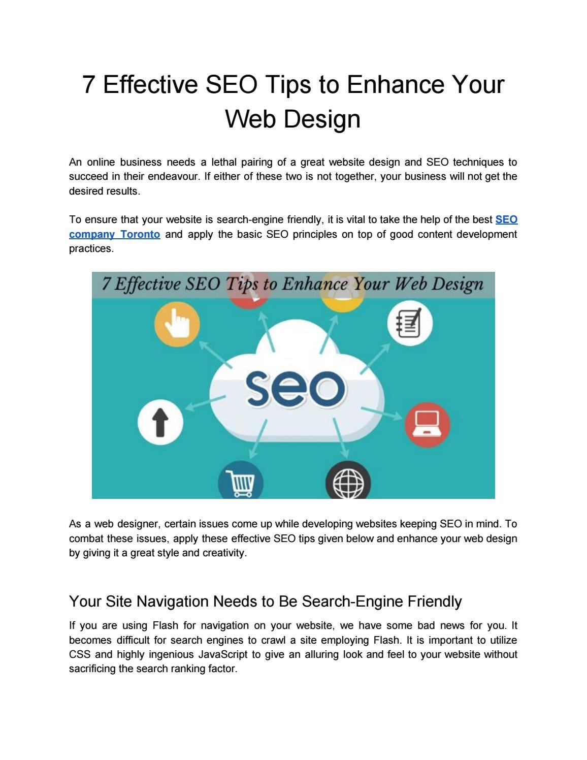 7 Effective Seo Tips To Enhance Your Web Design By Charles Smith Issuu