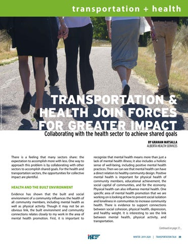 Page 33 of TRANSPORTATION & HEALTH JOIN FORCES FOR GREATER IMPACT Collaborating with the health sector to achieve shared goals