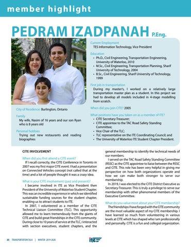 Page 38 of Member Highlight: Pedram Izadpanah