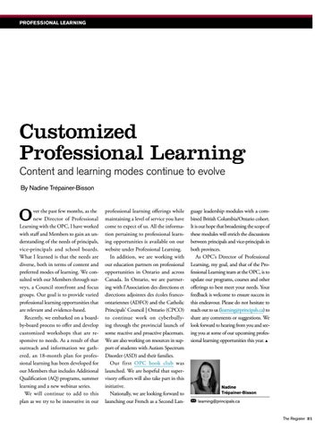 Page 21 of Customized Professional Learning: Content and learning modes continue to evolve