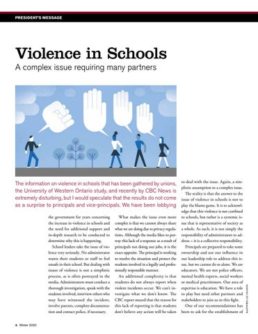 Page 4 of Violence in Schools: A complex issue requiring many partners
