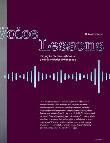 Page 9 of Voice Lessons: Having hard conversations in a multigenerational workplace